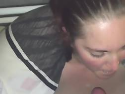 3 min - Blushing beauty Eats His cock In A POV movie