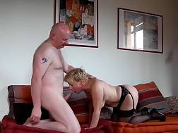 8 min - Grandma In Stockings Gets Covered After fuckin Hard