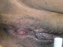 2 min - Shaving my wifes hairy snatch before I stick it in