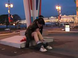 5 min - Tight ass sweetheart loves to pose nude in public places