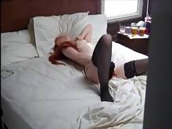 2 min - Guy catches his girl rubbing her cunt & cumming hard