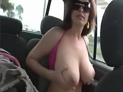 4 min - This amateur black haired has a couple of awesome looking huge titties