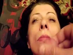 3 min - Sexual MILF takes a big messy facial cum shot on camera