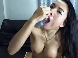 3 min - Busty asian bitch deepthroats a big toy like its nothin