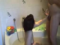 4 min - Wifey blows in the bathtub