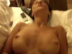 10 min - Very sexy busty dark haired enjoys the dick