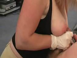 4 min - Gloved hand job on titties from a professional stroking wifey