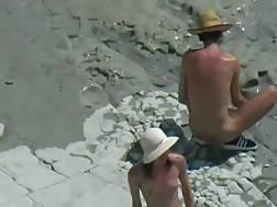 11 min - Nude beachgoers caught penetrating on cam