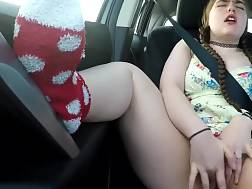 8 min - Awesome ex girlfriend fingers her pussy in the car
