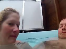 3 min - Naughty blond wifey sucking boyfriends pecker in the pool