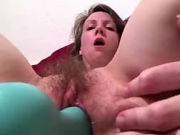 6 min - Long dildo stretches a hairy vagina