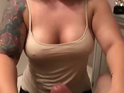 7 min - Tattooed girlie gives a titfuck