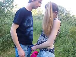 4 min - Skinny teen enjoys to fuck outdoors more than anything