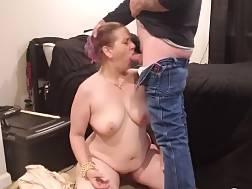 4 min - Busty wifey blow job a huge pecker on the floor