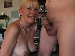 4 min - Wondrous ugly wrinkled mature blonde sucks my buddys strong prick
