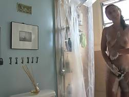 11 min - exposing unshaved pussy shower