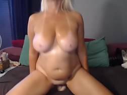 4 min - Boobed cougar teases curves