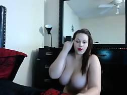 9 min - Fat hispanic girl toying