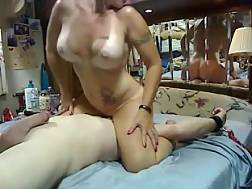 13 min - Naughty tanned wifey rides