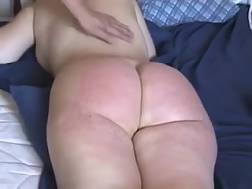 2 min - Big bbw round butt of my white mature wife is red like lobster