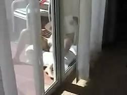 3 min - Wife sunbathing balcony