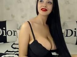 5 min - European boobed brunette mamma