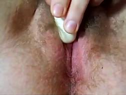 6 min - Closeup solo clip with me fondling my unshaved twat to orgasm