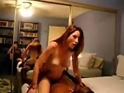 4 min - Bedmate enjoys interracial cowgirl