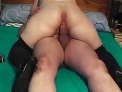8 min - Fatty wife wearing high