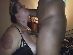 4 min - Busty fat mother deepthroats