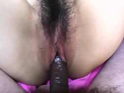 2 min - Oriental hottie takes big