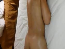Sexy nude pussy massage