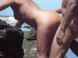 3 min - Crazy married couple make xxx fun in a public beach near a rock,holy fuck