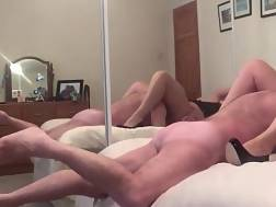 16 min - Old guy drilling his old wifey in heels