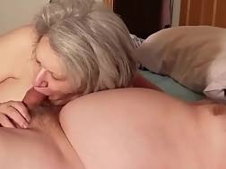 3 min - Grandmother blowing much younger