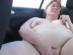 6 min - Bbw wifey wanking in the back of the car