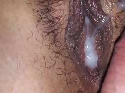 3 min - Hairy pecker twat make