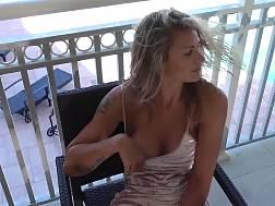 5 min - sexual spreading legs balcony