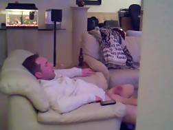 14 min - Hubby sitting couch getting