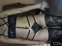 8 min - girl sexual underwear enjoys