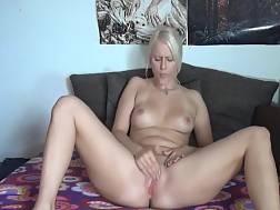 5 min - Gorgeous blond girl takes