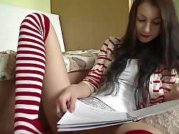 19 min - Teen sweetie In Stripped Stockings enjoys To wank