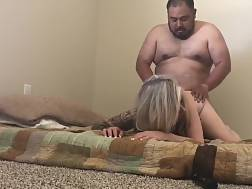 5 min - Wife penetrated doggy receives