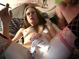 12 min - Sweetheart Smoking and Pleasuring Herself In Fishnet Stockings