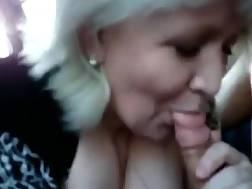 7 min - Cock sucking car blonde