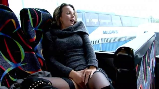 Girl Masturbates In Train Station