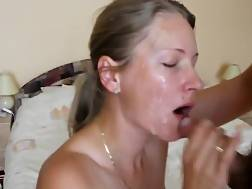 1 min - Sappy facial nasty blonde