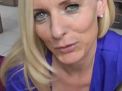 6 min - Horny German mother pov blow job & creampie