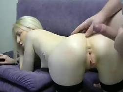 12 min - Skinny white girlie with cool butt banged anal on live cam