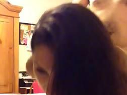 2 min - Latina wife taking hard